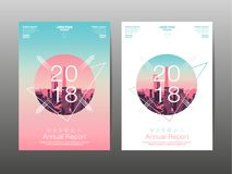 Annual report 2018 ,future, business, template layout design, co Royalty Free Stock Photos