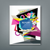 Annual report geometric abstract artist Royalty Free Stock Photos