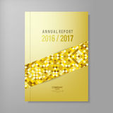 Annual report gold cover template vector design. Annual report template vector illustration design eps 10 Stock Image