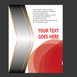 Annual report Leaflet Brochure Flyer template design Royalty Free Stock Photography