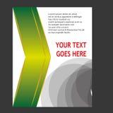 Annual report Leaflet Brochure Flyer template design Stock Photos