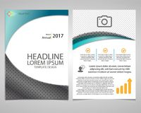 Annual Report Leaflet Brochure Flyer template design, book cover layout Royalty Free Stock Photos