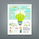 Annual Report light bulb environment creative design Stock Image