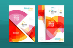 Annual Report A4 page cover. Leaflet brochure flyer template or book and magazine layout design, abstract background presentation template royalty free illustration