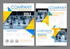 Annual Report and Presentation Template design. Illustration of Annual report and presentation Leaflet Brochure Flyer and book cover layout template design Stock Images