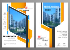 Annual Report and Presentation Template design. Illustration of Annual report and presentation Leaflet Brochure Flyer and book cover layout template design Stock Image