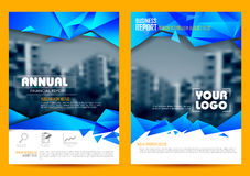 Annual Report and Presentation Template design Stock Photo