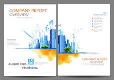 Annual Report and Presentation Template design. Illustration of Annual report and presentation Leaflet Brochure Flyer and book cover layout template design Royalty Free Stock Photography