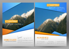 Annual Report and Presentation Template design Stock Photos