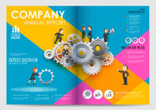 Annual Report and Presentation Template design Stock Images