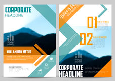 Annual Report and Presentation Template design Royalty Free Stock Photos