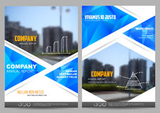Annual Report and Presentation Template design. Illustration of Annual report and presentation Leaflet Brochure Flyer and book cover layout template design Stock Photography