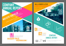 Annual Report and Presentation Template design. Illustration of Annual report and presentation Leaflet Brochure Flyer and book cover layout template design Royalty Free Stock Image