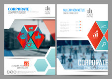Annual Report and Presentation Template design. Illustration of Annual report and presentation Leaflet Brochure Flyer and book cover layout template design Royalty Free Stock Photos