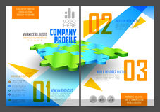 Annual Report and Presentation Template design Stock Photography