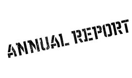 Annual Report rubber stamp. Grunge design with dust scratches. Effects can be easily removed for a clean, crisp look. Color is easily changed Royalty Free Stock Photos