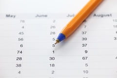 Annual report. Sales by month stock photo