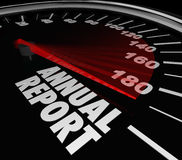 Annual Report Speedometer Increasing Growth Royalty Free Stock Photography