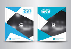 Annual report template vector illustration Royalty Free Stock Photography