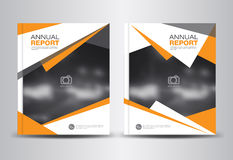 Annual report template vector illustration Royalty Free Stock Images