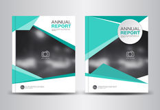 Annual report template vector illustration Stock Photography