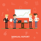 Annual report to the company management Royalty Free Stock Photography