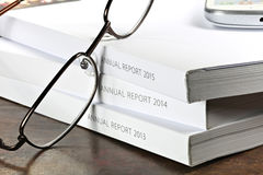 Annual reports Stock Photography