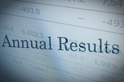 Annual Results Royalty Free Stock Image
