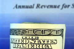 Annual Revenue Report Stock Photo