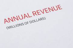 Annual Revenue report Royalty Free Stock Image