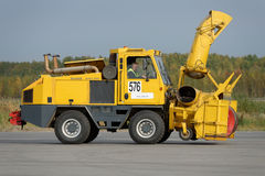 Annual review of airport equipment in Pulkovo, St. Petersburg, Russia Royalty Free Stock Image