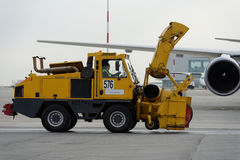 Annual review of airport equipment in Pulkovo, St. Petersburg, Russia Stock Photo