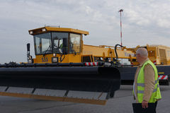 Annual review of airport equipment in Pulkovo, St. Petersburg, Russia Stock Photos
