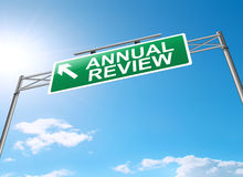 Annual review concept. Illustration depicting a sign with an annual review concept Royalty Free Stock Photos