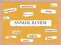 Annual Review Corkboard Word Concept Stock Photo