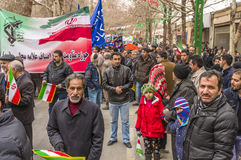 Annual revolution day in Esfahan, Iran. Esfahan, Iran - February 2016 - Annual Revolution day manifestation on the street of Esfahan for celebrate Islamic Stock Photography