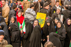 Annual revolution day in Esfahan, Iran. Esfahan, Iran - February 2016 - Annual Revolution day manifestation on the street of Esfahan for celebrate Islamic Royalty Free Stock Photography