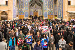 Annual revolution day in Esfahan, Iran. Esfahan, Iran - February 2016 - Annual Revolution day manifestation on the street of Esfahan for celebrate Islamic Royalty Free Stock Photo