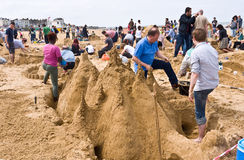 Annual RIBA Sandcastle Challenge in Margate, UK Stock Images