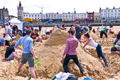 Annual RIBA Sandcastle Challenge in Margate, UK Royalty Free Stock Photo