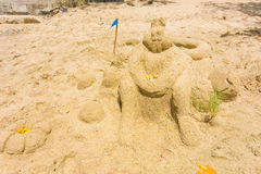 An annual sandcastle competition in the windward islands Royalty Free Stock Image