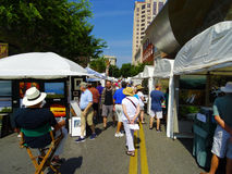 Annual Sidewalk Art Show – Roanoke, VA Stock Photography
