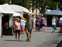 Annual Sidewalk Art Show – Roanoke, VA Stock Photo