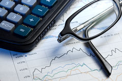 Annual statistics report Stock Photo
