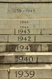 Annual steps at World War Two Cenotaph Stock Images