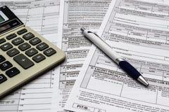 Annual tax return Stock Photo