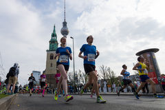 The annual 37th Berlin Half Marathon Stock Photography