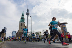 The annual 37th Berlin Half Marathon Stock Photo