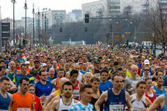 The annual 37th Berlin Half Marathon Royalty Free Stock Photo