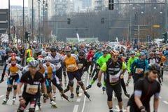 The annual 37th Berlin Half Marathon Stock Images